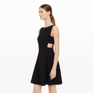 "Club Monaco ""Jamarca"" black cut out dress"